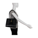 Mocha 01 Women s Handbag, Croco,  black