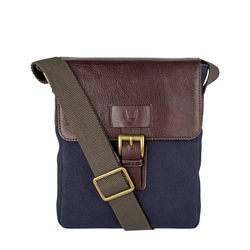 Bedouin 03 Men's Cross Body, Canvas E. I Goat,  navy blue