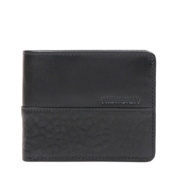 363-L103 RF MENS WALLET SADDLE,  black