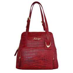 109 01 Handbag, croco,  red