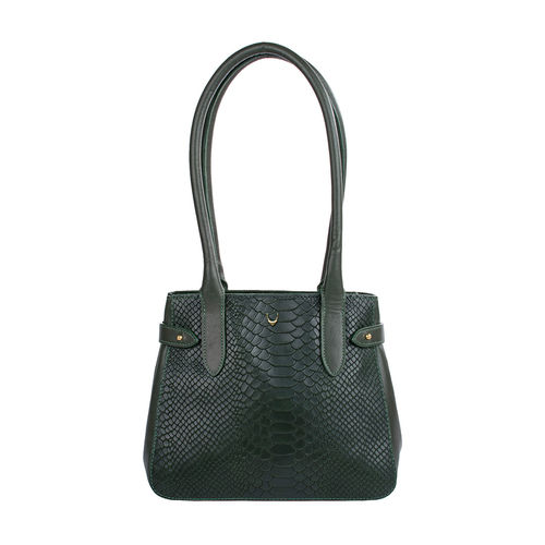 Shanghai 03 Sb Women s Handbag, Snake Melbourne Ranch,  emerald green