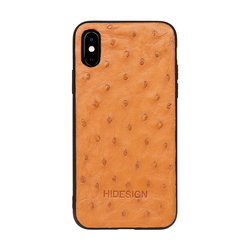 I PHONE XS MOBILEPHONE CASE OSTRICH,  tan