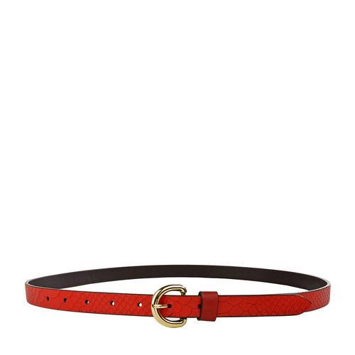 Akiko Women s Belt, Snake Ranch, 32-34,  red