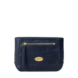 TAURUS W1 (RFID) WOMEN'S WALLET LIZARD,  midnight blue