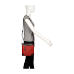 SURFER 02 SLING BAG WAXED SPLIT,  red