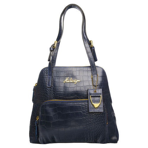 109 01 Women s Handbag, Croco,  blue
