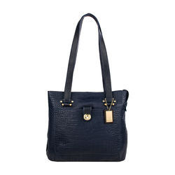 Courtney 03 Handbag, croco,  blue