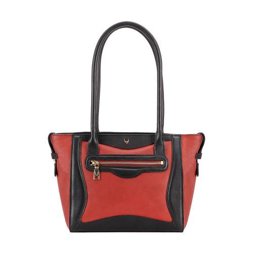 HIDESIGN X KALKI BOSS 01 WOMEN S SHOULDER BAG WAXED SPLIT,  red