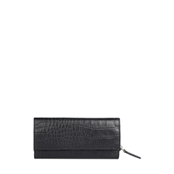 526 (Rfid) Women's Wallet, Croco,  black