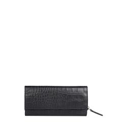 526 (Rfid) Women's Wallet, Croco,  black