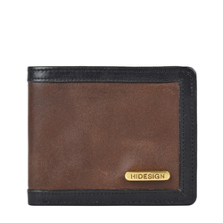 342 017 RF SB MENS WALLET WAX SPLIT,  tan