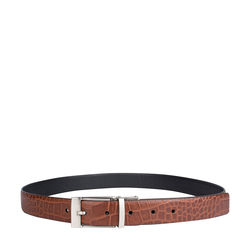 Alex Men's belt, 38 40, croco,  tan