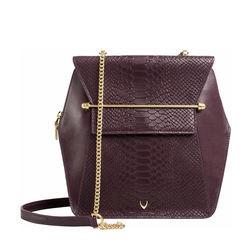 Delilah 02 Women's Handbag Snake,  aubergine