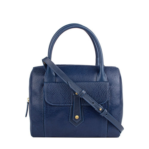 Hong Kong 03 Sb Women s Handbag, Lizard Melbourne Ranch,  midnight blue