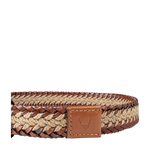 Napoli Men s Belt, Raro Woven, M,  tan