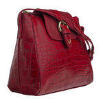 Sb Lyra Women s Handbag, Croco Ranchero Red Red,  red