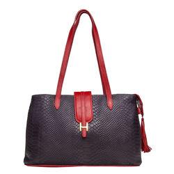 SB Silvia 02 Women's Handbag Snake,  aubergine
