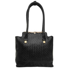 Shinjuku 01 Women's Handbag, Woven Ranch,  black