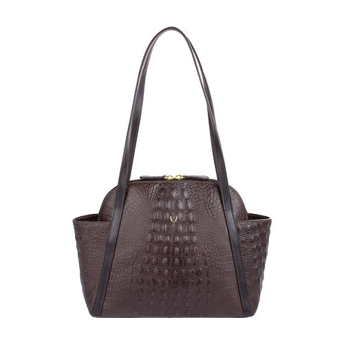 New York 01 Sb Women s Handbag, Baby Croco Melbourne Ranch,  brown