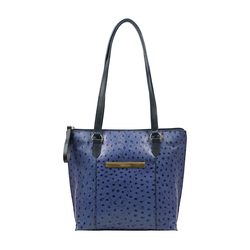 Maple 02 Sb Women's Handbag Ostrich Embossed Melbourne Ranch,  midnight blue