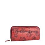 Meryl W1 Women s wallet, E. I. Leaf Emboss Roma Melbourne Ranch,  red