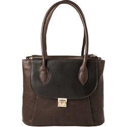 Tabit 01 Handbag, lizard,  brown