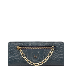 CHARLESTON W1 (RFID) WOMEN'S WALLET BABY CROCO,  midnight blue
