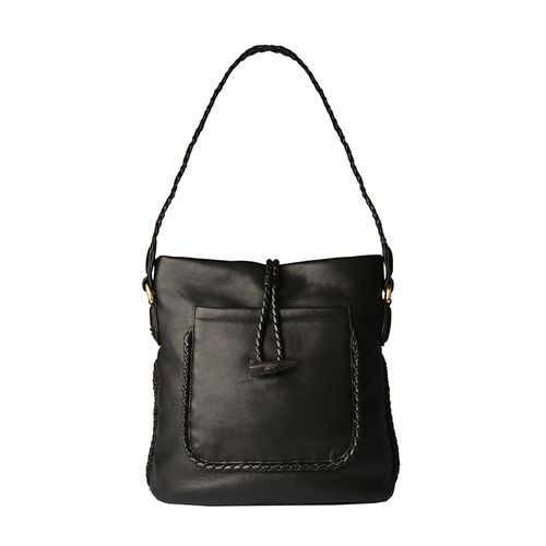 Beluga Handbag,  black, deer