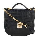 Sb Elsa Women s Handbag, Croco Melbourne Ranch,  black