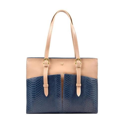 Virgo 02 Sb Women s Handbag, Snake Melbourne Ranch,  midnight blue
