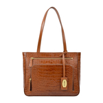 KATNISS 02 SB WOMENS HANDBAG CROCO POLISHED,  tan