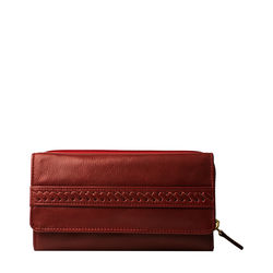 Mina W3 (Rfid) Women's Wallet, Roma,  red