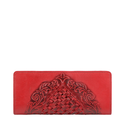 BELLE STAR W2 (RF) WOMENS WALLET EI EMBOSS,  red