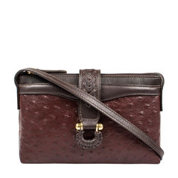 SB FRIEDA W4 WOMEN'S WALLET OSTRICH,  brown