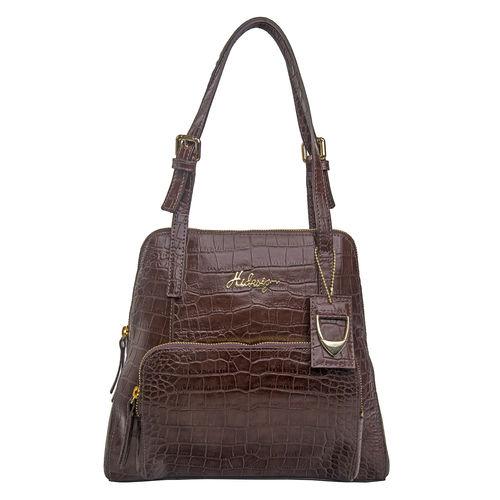 109 01 Women s Handbag, Croco,  brown