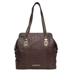 Harajuku 03 Handbag, baby croco,  brown