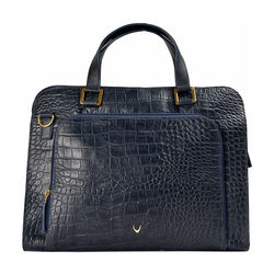 Biscotte 02 Women's Handbag, Croco Melbourne Ranch,  blue