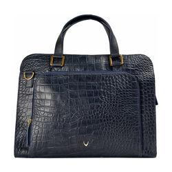 Biscotte 02 Women's handbag Croco,  blue