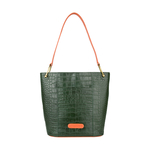 JUPITER 01 SB WOMEN S HANDBAG CROCO,  emerald green