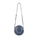 CHARLESTON 04 WOMEN S HANDBAG BABY CROCO,  midnight blue