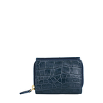 Carly W4(Rf) Women s Wallet, Croco Melbourne,  blue