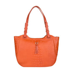 Fleur 01 Women's Handbag, Baby Croco Melbourne Ranch,  lobster