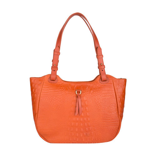 Fleur 01 Women s Handbag, Baby Croco Melbourne Ranch,  lobster