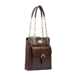 ELIZA 02 SB WOMENS HANDBAG OSTRICH EMBOSS,  brown