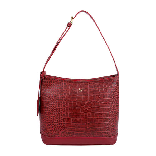 Berlin 03 Sb Women s Handbag, Croco Melbourne Ranch,  red