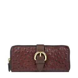 ELIZA W1 (RF) SB WOMENS WALLET OSTRICH EMBOSS,  brown