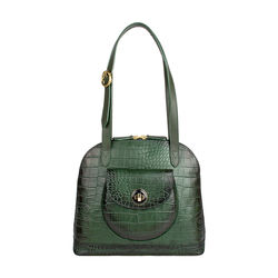 Croco 01 Handbag,  green