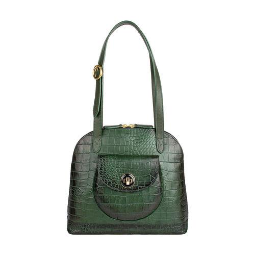 Croco 01 Women s Handbag, Croco Melbourne Ranch,  green