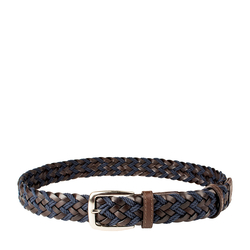 Roma Men's Belt, Raro Woven, L,  brown