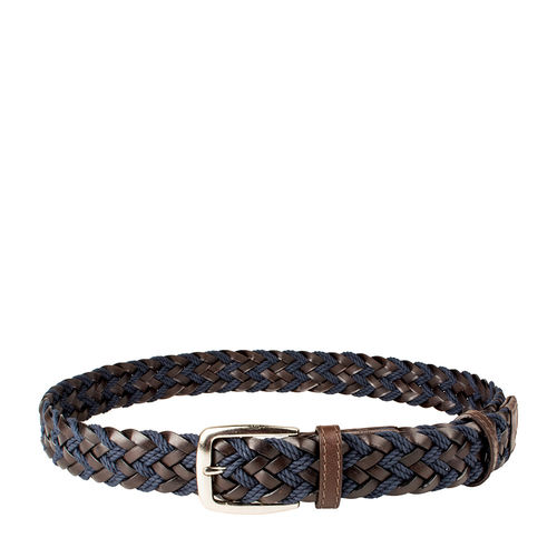 Roma Men s Belt, Raro Woven, M,  brown